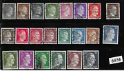 Third Reich Germany Stamp Set Adolph Hitler 22 Different 1941 - 1944 Stamps