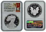 2020 W End Of Ww 2 Proof Silver Eagle V75 Privy Ngc Pf70 First Day Of Issue