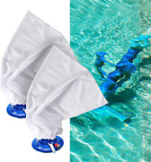 Vacuum Pool Cleaner Bags With Pull Lock For Leaf Fine Mesh Bag 4 Pcs