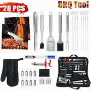 28pcs Bbq Grill Tool Set- 28 Piece Stainless Steel Barbecue Grilling Accessories