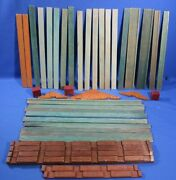 Vintage Lincoln Logs Tumble Tree Timbers Halsam Long Roof Slats, Logs And Etc