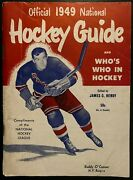 1949 Hendy Hockey Guide Rules Records And Schedule + Who's Who In Hockey Nhl