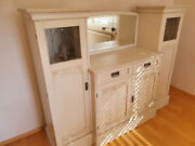 Antique Sideboard With Mirror, Cream White