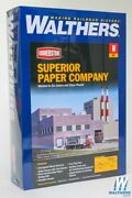 New Walthers 933-3237 Superior Paper Company Kit N Scale Train Free Us Ship