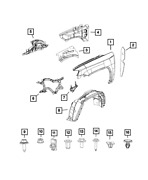 Oem New 2007-2017 Mopar Jeep Compass Upper Outer Load Path Beam Right 68002036ad