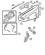 Oem New 2007-2010 Mopar Jeep Compass Inner Load Path Beam Right 4 Cyl 68002032aa