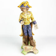 Occupied Japan Paulux French Provincial Man W/ Gold Accents 10 Figurine