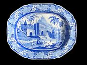 Herculaneum Platter And039view In The Fort Maduraand039 India Series C. 1810