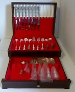 Wm. A. Rogers Vintage 1964 Pattern Andldquobeverly Manorandrdquo Silver Service Set For 8