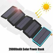 20000mah Solar Power Bank Real Charging Phone External Battery Charger For Phone