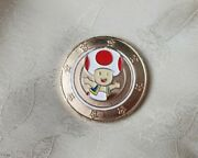 Super Mario Nintendo Golden Game Token Frankford Candy Large 1.5 Toad Character