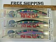 Lot Of 3 Yo Zuri Crystal Minnow Dd 130 Mm Floating Lure Good Color Tackle Find