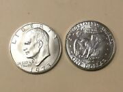 1973 S Unc Brilliant Uncirculated Silver 40 Eisenhower Ike Dollar. Nice Coin