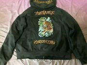 Menand039s Mens Dussault Custom Ink Tiger Hoodie Us Size Xl Rare Discontinued