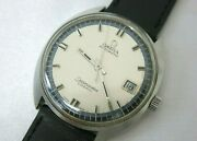 Vintage Omega Seamaster Cosmic Silver Men's Watch Ref 166.026 From Japan 3-5