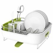 Zova Premium Stainless Steel Dish Drying Rack With Swivel Spout Dish Drainer...