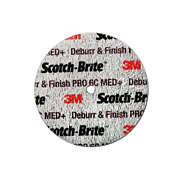 Scotch-brite Deburr And Finish Pro Unitized Wheel, 4 In X 1 In X 1/4 In 6c Med+