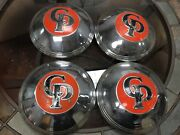Cp Tractor Dog Dish Hubcaps Set Of 4 Vintage Factory Tractor Caps Hubcaps