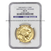 2009 50 Buffalo Ngc Ms70 Early Releases American Gold Bullion 1 Ounce Coin Er