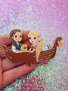 Mama Whale Pins Fantasy Pin Disney Rapunzel And Flynn Tangled Boat