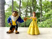 Disney Beauty And The Beast Belle Figurines 2.5 Plastic Pvc Pre-owned Vintage