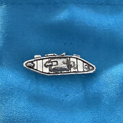 Ww1 Mark 1v Tank Silver Pewter Pin Badge With A Satin Gift Bag