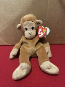 Ty Beanie Baby And039bongoand039 The Monkey Great-condition Tags Extremely Rare Retired