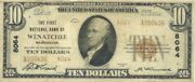 1929 10 National Banknote Wenatchee Washington Type 2 Note Only 2 Known