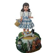 Wizard Of Oz Music Box Madame Alexander Figurine Dorothy Toto Off To See Musical