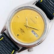 Citizen Gold Used Men's Watches Mechanical Self-winding Antique Vintage