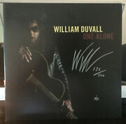 William Duvall One Alone Vg++ Black Vinyl Signed 126/500 Alice In Chains
