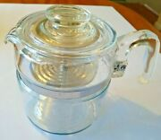 Pyrex 6 Cup Glass Coffee Pot Percolator Vintage Used Complete