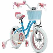 Royalbaby Girls Kids Bike Stargirl 12 14 16 Blue|14 Inch With Training Wheels