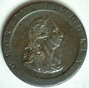 1797 Great Britain Copper 2 Pence Coin Large Heavy Uk George Iii Ruler Brittania