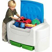 Little Tikes Sort And039n Store Toy Storage Chest White And Blue