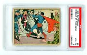 1940 Superman Card R145 8 Rescue At The Bank Gum Inc Psa 4 Rc 1st Series