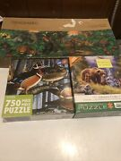 Lot Of 3 Animal Jigsaw Puzzles - 500/750 Piece