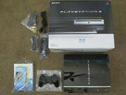 Sony Playstation 3 60gb Backwards Compatible Console Ps3 System Cecha01 Box