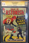 💎tales To Astonish 49 Cgc 7.5 Stan Lee Sig 1st App Giant-man Avengers🔥