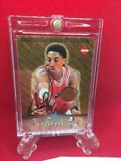 Scottie Pippen 1997 Collector's Edge Authentic Game Used Ball On Card Auto Bulls