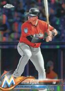 2018 Topps Chrome Refractors Justin Bour Los Angeles Angels - X1878