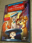 Lady And The Tramp Ii Scamps Adventure Dvd, 2006, New And Sealed, Region 1,rare