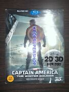 Captain America The Winter Soldier Limited Steelbook Blu Ray New 3d 2d Korea Pet