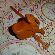 Toy Horse Saddle '1' 'open Heart' Marks, Tan Plastic, Replacement