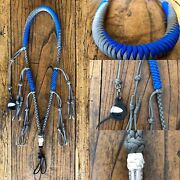 Paracord Duck Goose Waterfowl Call Lanyard Blue And Grey With Canada Finisher