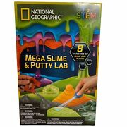 National Geographic Mega Slime And Putty Lab 8 Varieties Childrenandrsquos 8-11