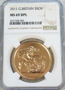 2011 Gold Great Britain 5 Pounds Coin Ngc Mint State 69 Deep Proof Like
