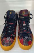 Disney's Donald Duck Jacquard Hi-top Sneakers Limited Edition Discontinued
