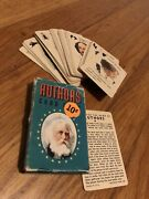 Vtg 50s 1950s Whitman Authors Mini Card Game Complete Deck W Rules