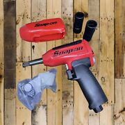 """Snap On Long Anvil Impact Wrench 1/2"""" And Sae And Mm Double Ended Lug Nut Sockets"""